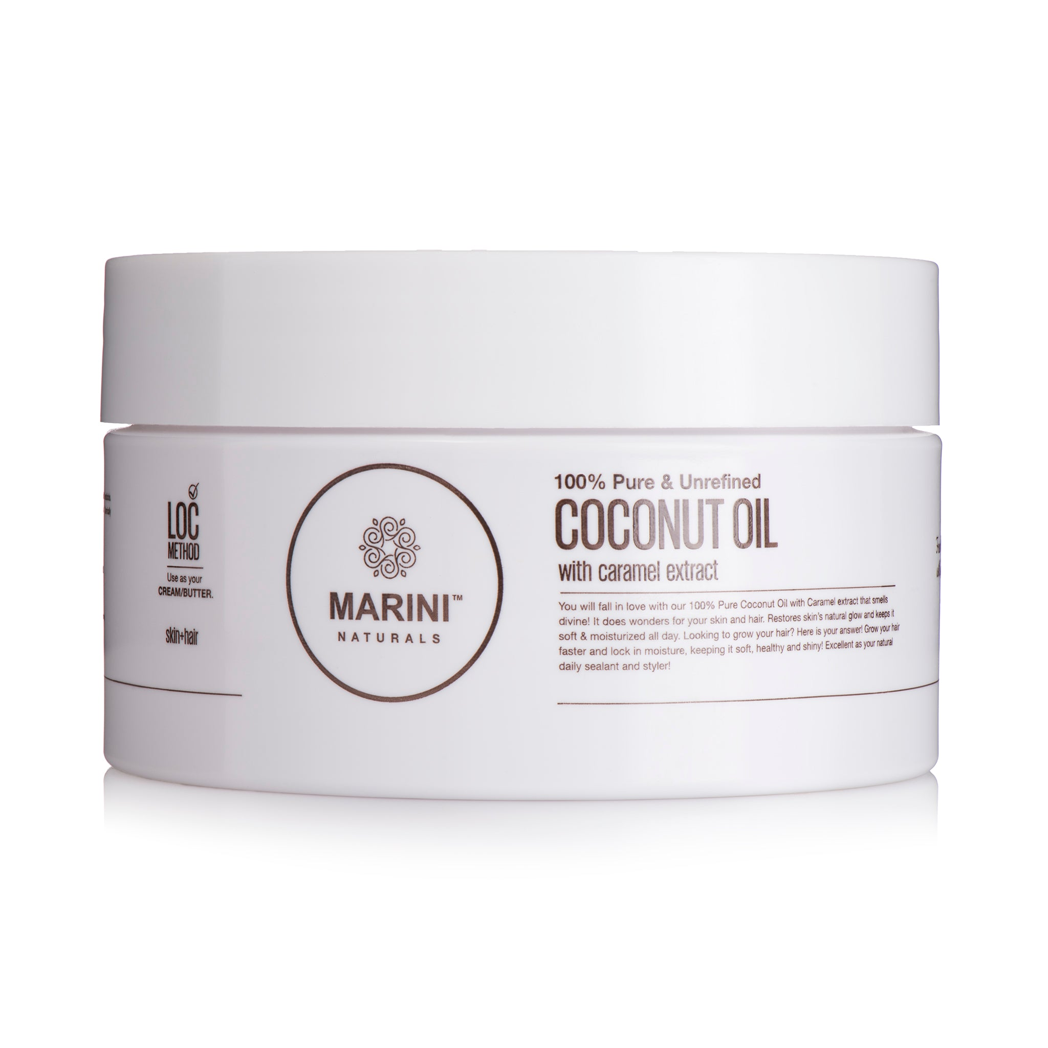 MARINI NATURALS 100% PURE COCONUT OIL WITH CARAMEL EXTRACT