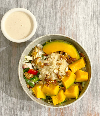 a delicious variety bowl for ant-inflammation perfect for after a juice cleanse or soup diet. Detox and immunity boosting