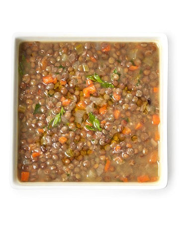 French lentil soup that is vegan, organic and gluten free, dairy free, corn free, soy free, egg free and inflammatory oil free. Packed with protein and a taste factor that makes you want more, this soup is a part of Dr. Blum's line of healing soups.
