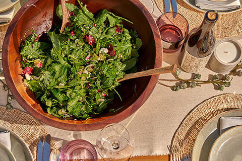 organic salad is a stable for david baird, winemaker at Folktale Winery