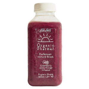 Antioxidant strength for your immune system. Defense+ is an immune boosting beverages infused with elderberry and elderflower. These herbs work with the body to prevent the viruses ability to attach to our cells. Always organic and plant-based ingredients meet gluten free, dairy free, soy free, egg free, toxic oil free and corn free perfection.