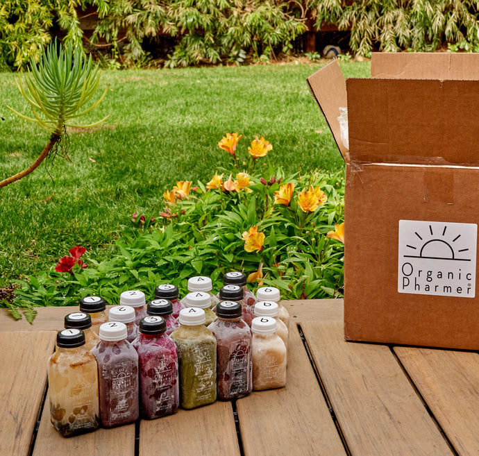 Arrives to your door frozen and ready to be thawed for your cleasning journey. Preserved at optimal nutritonal value after being made to deliver to your body the highest quality possible botanically infused beverages for your organic anti-inflammatory cleanse.