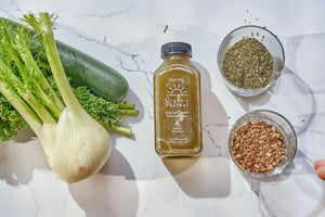 alpha green is our intense detox beverages. It is the first juice for each day of cleansing. A great way to start every morning it has nettle and burdock to help the liver and blood with their daily detoxing. Always organic and gluten free, dairy free, soy free, egg free, corn free and toxic oil free.