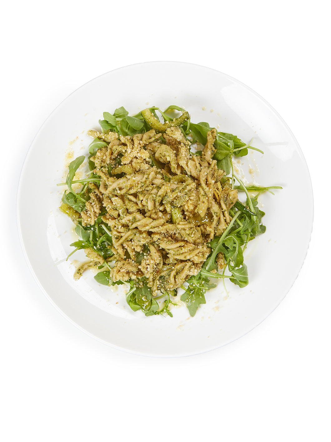 Mung Bean Fusilli with Kale Pesto