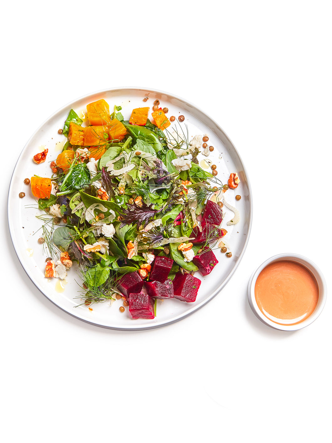 French Lentil & Roasted Beet Salad