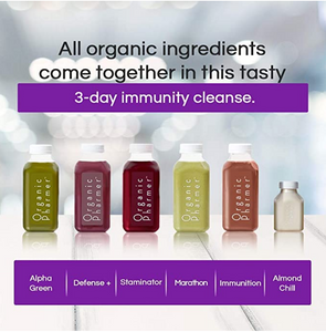 all organic ingredients come together in this tasty 3 day immunity boosting cleanse botanically infused with medicinal purpose. Our cleanses are nutritionally sound, organic and healing. Everything your body needs to get the boost in immunity to fight off intruders