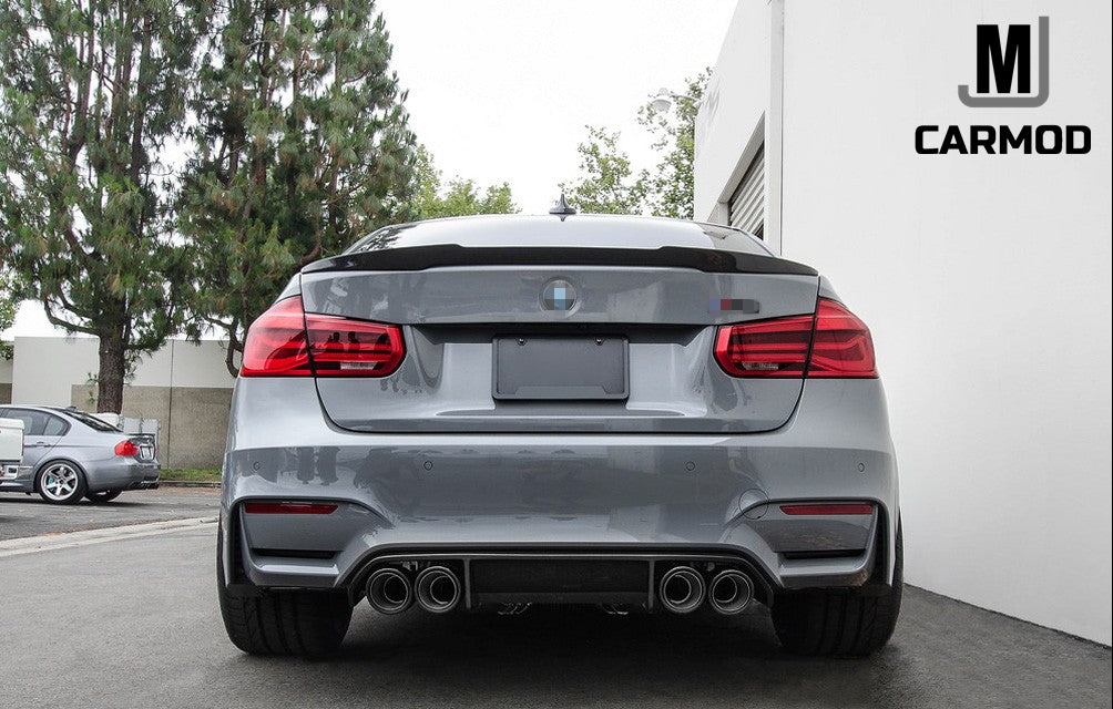 E90 E92 F30 F80 3 Series Carbon Fiber Rear Trunk Spoilers Large M4 Type
