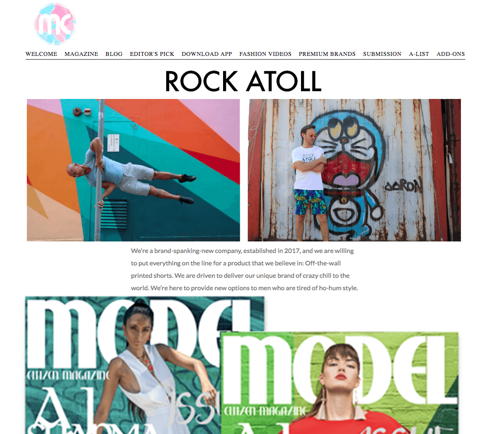 Model Citizen Magazine x ROCK ATOLL
