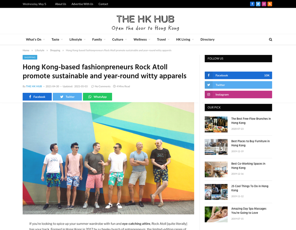 Hong Kong-based fashionpreneurs Rock Atoll promote sustainable and year-round witty apparel