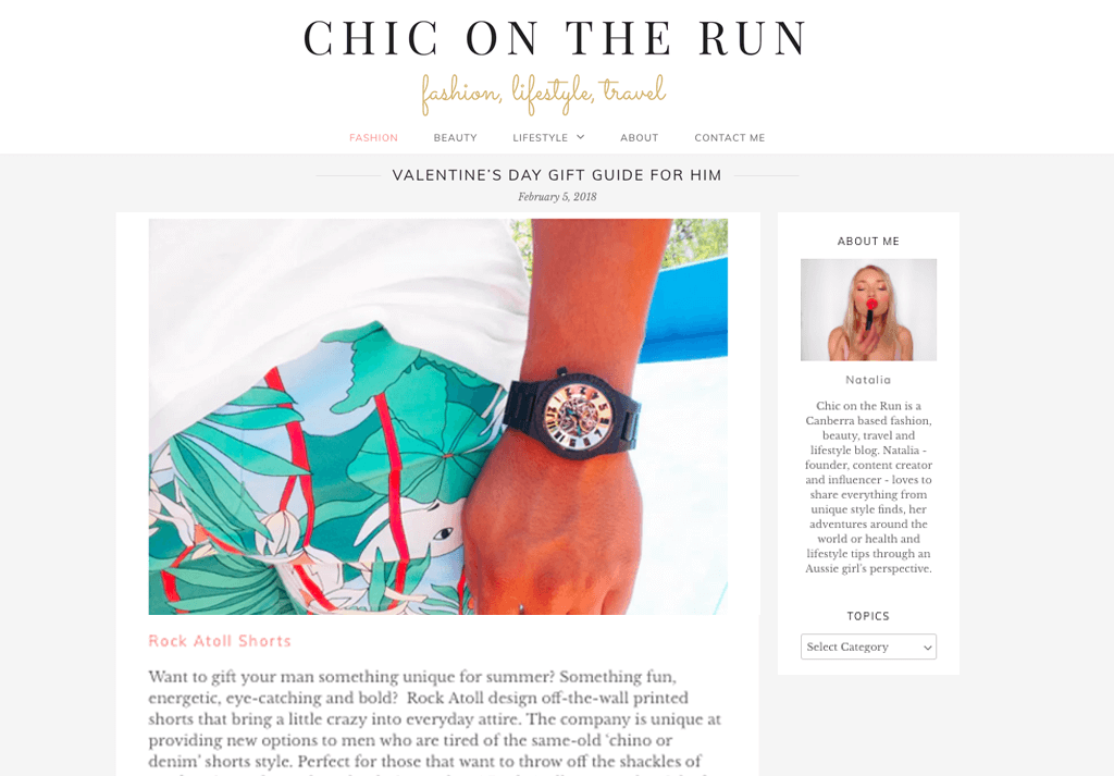 Rock Atoll x Chic On The Run Valentines Gifts For Him Guide