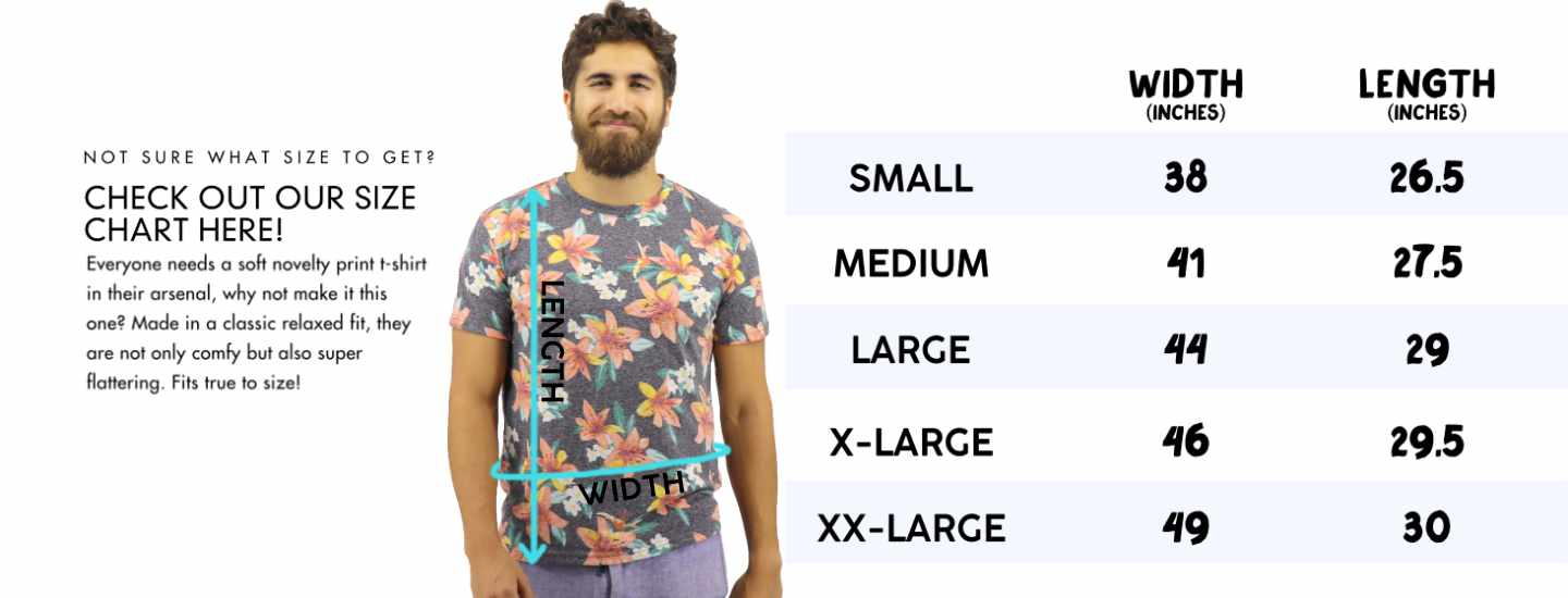 ROCK ATOLL Men's Super Comfy Summer Essential T-Shirts Size Chart for Men