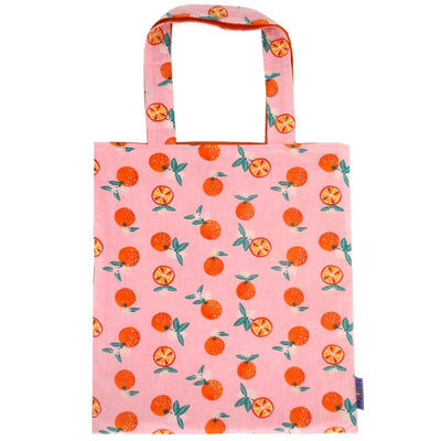 Fruity Food Themed Orange All Over Print Reversible Cotton Tote Bag