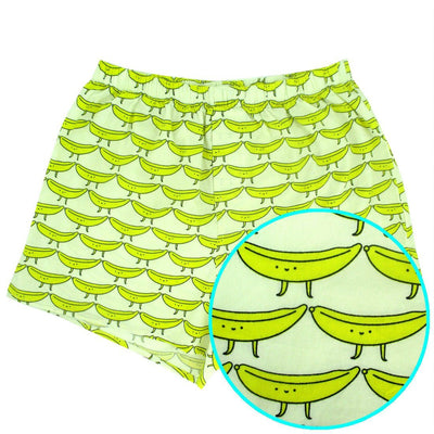 Banana All Over Print Cotton Boxer Shorts for Men Gag Gifts for Him