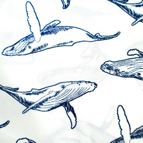 Blue Whales Sea Creatures Marine Life Boxer Shorts in White