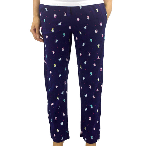 Rock Atoll Women's Long Pajama Cat and Dog All Over Print Pants
