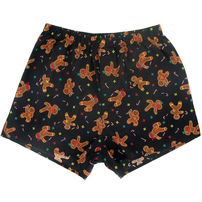 Festive Ninja Gingerbread Men Patterned Christmas Inspired Boxer Shorts Stocking Stuffers
