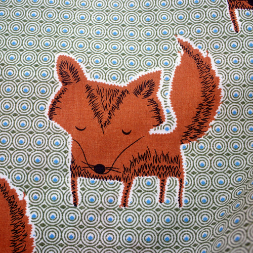 Cute Orange Fox Pattern Men's Cotton Boxer Shorts