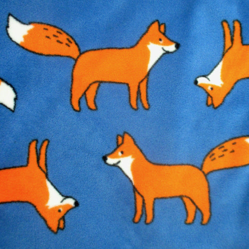 Colorful Cute Orange Fox All Over Print Comfy Warm Fleece Pyjama Pj Bottoms for Men with Pockets