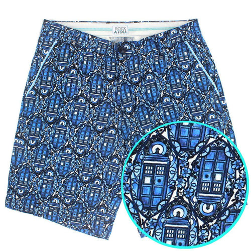 Doctor Who Shorts. Mens Dr Who Shorts Featuring The TARDIS!