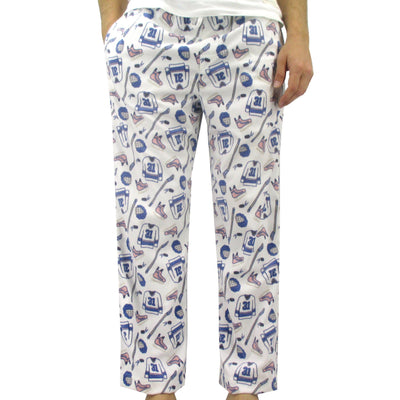 Men's Sports Inspired Ice Hockey All Over Print Fleece Pajama Bottoms