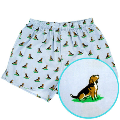 Rock Atoll Boxer Shorts with Beagle Puppy Dog All Over Print