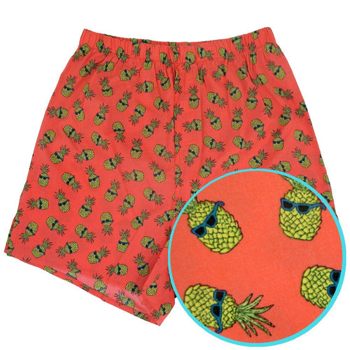 Rock Atoll Menswear Fruit All Over Print Boxer Shorts in Orange