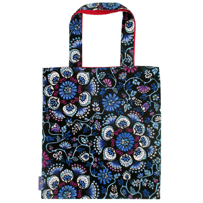 Floral Flower Mandala All Over Print Reversible Tote Bag for Women in Pink