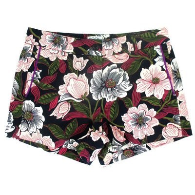 Floral Flower All Over Print Summer Chinos Bermudas Shorts for Women