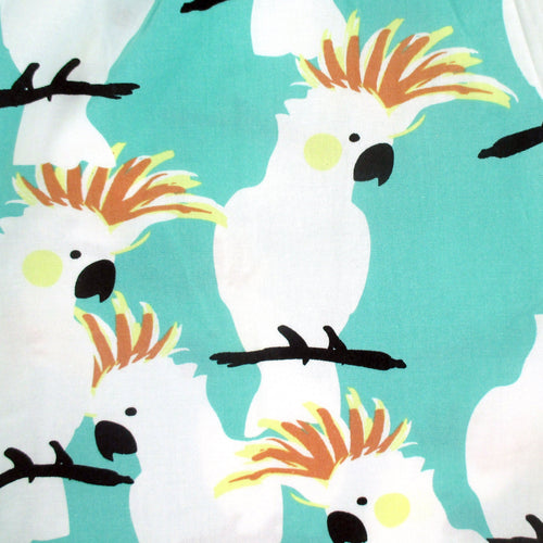 White Cockatoo Parrot Print Boxer Shorts for Men