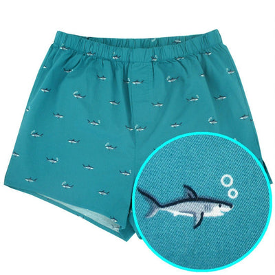 Rock Atoll Menswear Sleepwear. Buy Men's Boxer Shorts with Sharks All Over Them
