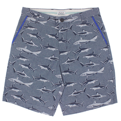 Great White Shark All Over Print Bermuda Shorts for Men