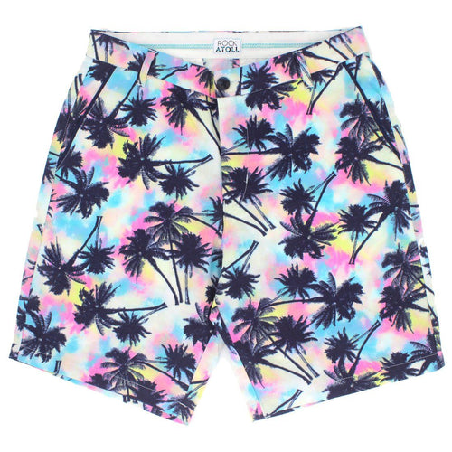 Classic Fit Trippy Palm Trees Neon Men's Shorts