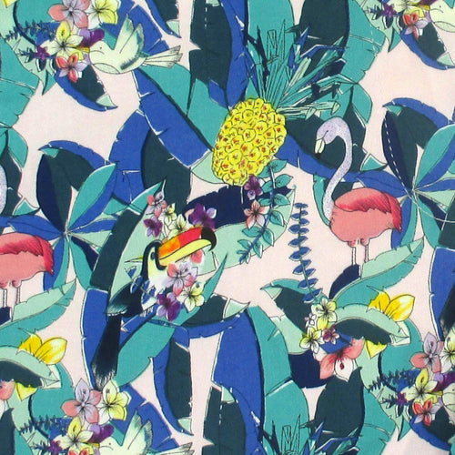 Toucan Flamingo Tropical Leaves All Over Print Bermuda Shorts Chinos for Women