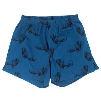 Walrus All Over Print Elastic Waist Boxers for Men