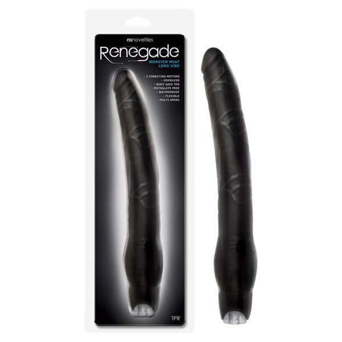 12-Inch Renegade Monster Meat Black Waterproof Penis Vibrator