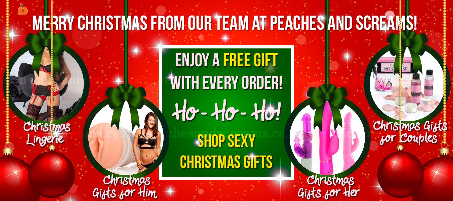 Sexy Christmas Gifts at Peaches and Screams