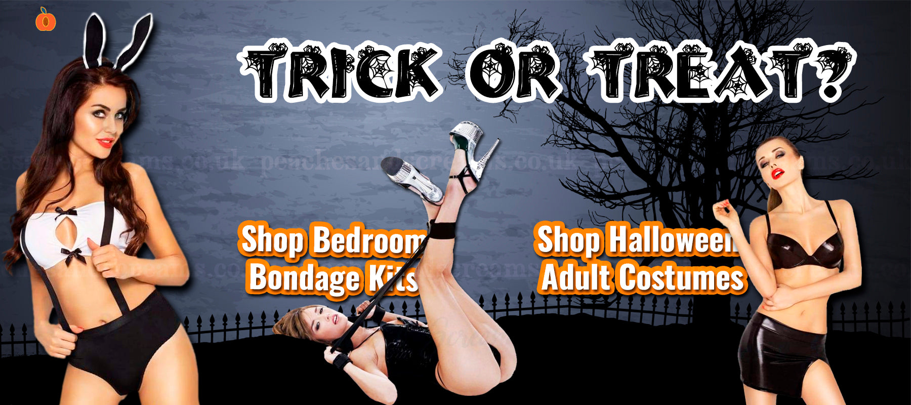 Peaches and Screams UK Sex Shop Halloween Sale
