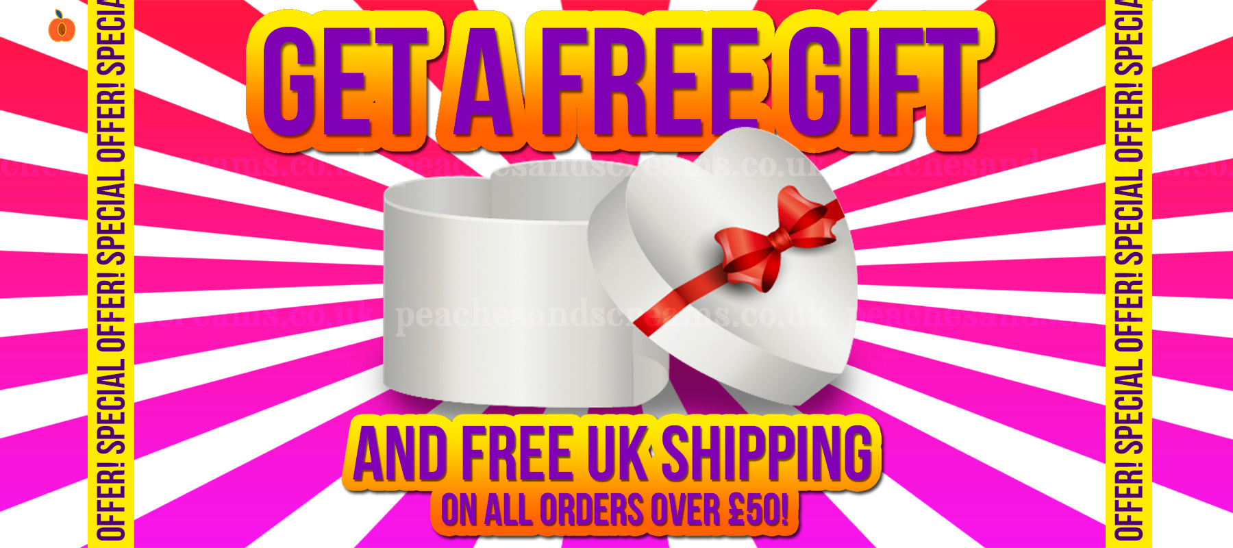 get a free gift and free uk shipping peaches and screams sex shop