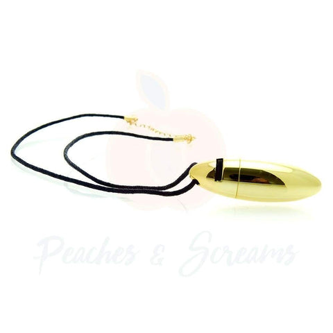 2-Inch Rocks Off Roval Gold Mini Bullet Necklace Vibrator
