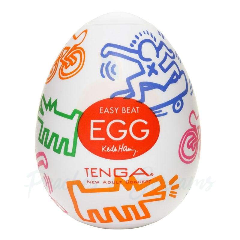 2.5-Inch Tenga Egg Keith Haring Stretchy Egg Masturbator for Men