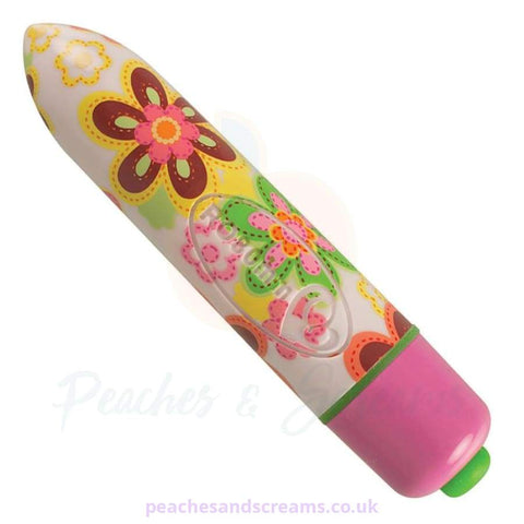 7-SPEED ROCKS OFF RO80 FLOWER PRINT BULLET VIBRATOR
