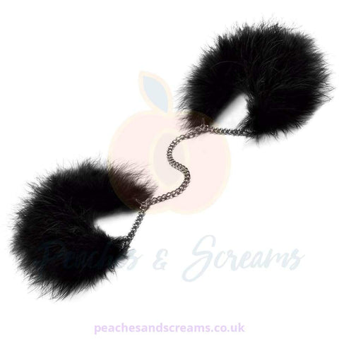 BIJOUX ZA ZA ZU LUXURY FEATHER HANDCUFFS FOR BDSM BONDAGE PLAY
