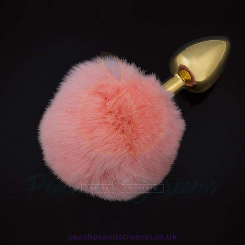 DOLCE PICCANTE SMALL PINK JEWELLERY BUTT PLUG WITH TAIL