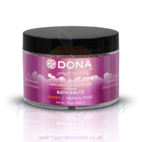 DONA EROTIC BATH SALTS IN SASSY TROPICAL TEASE