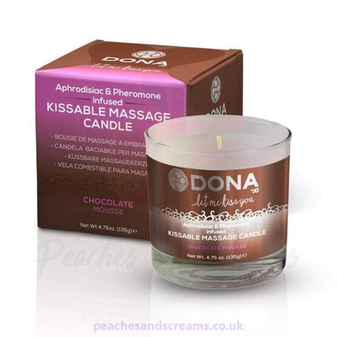 DONA Kissable Erotic Personal Massage Candle in Chocolate Mousse, 135g