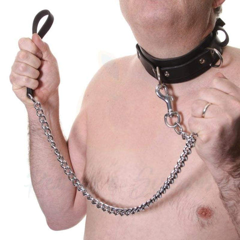 House of Eros Large Collar and Chain Lead for Him