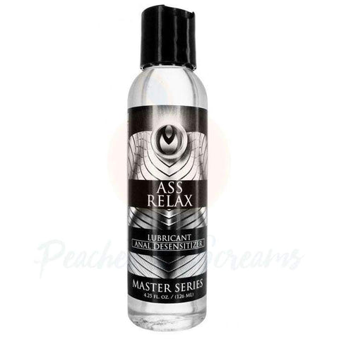 Master Series Ass Relax Desensitizing Anal Sex Lube, 4.25oz