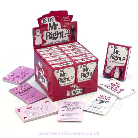 Mr Right Card Game for Hen Nights