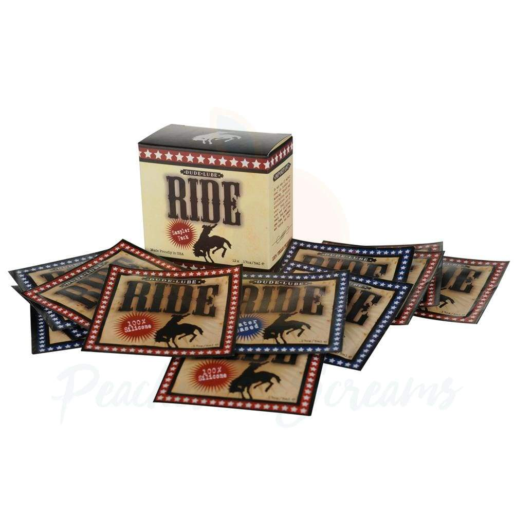 Ride Dude Lube Silicone and Water-Based Lube Pillows, 12x17oz