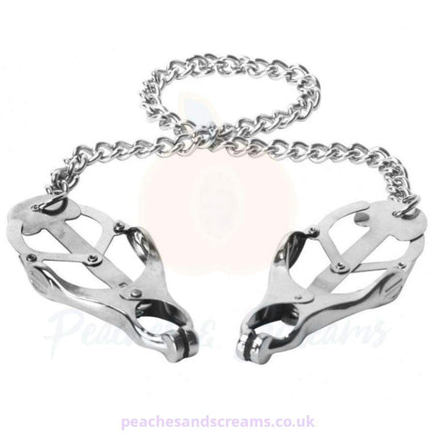 SILVER NIPPLE CLAMP VICE FOR BDSM BONDAGE PLAY